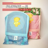 Кенгуру за носене LEBAO за деца до 10 кг, синьо и розово райе / 8042