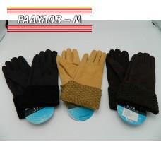 Ръкавици дамски с плетен маншет / 805