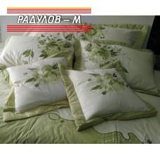 Луксозен спален комплект с бродерия в зелено / 111