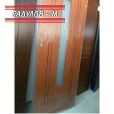 Интериорна врата със стъкло с каса и брава / 133
