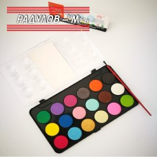 Водни бои за рисуване 18 цвята / 7564