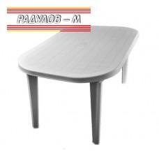 Елипсовидна маса пластмаса 135*82 см, бяла / 0339