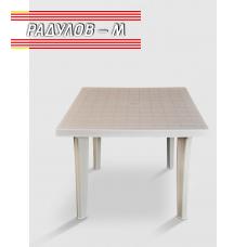 Пластмасова маса Sterk квадрат 90*90 см, бяла/ 0346