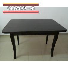 Трапезна маса разтегателна правоъгълна с бароков крак 70*110 см / 771246