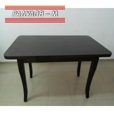 Трапезна маса разтегателна правоъгълна с бароков крак 80*120 см / 77134
