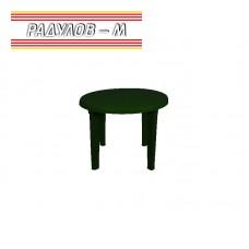 Кръгла пластмасова маса зелена ф90 см / 0166