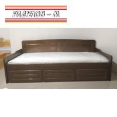 Единично легло тип канапе, с три чекмеджета, чам байц / 021
