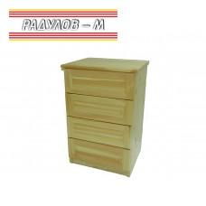 Скрин с четири чекмеджета чам / 30103