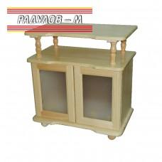 ТВ Барче със стъклени врати чам / 30109