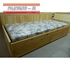 Легло с табла и две чекмеджета / 30344