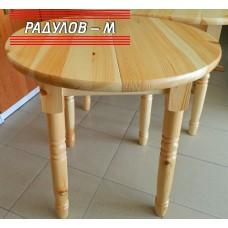 Кухненска маса кръгла чам / 30377