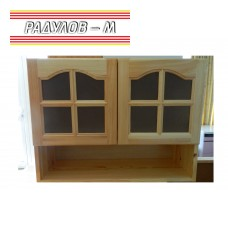 Кухненски шкаф със стъклени вратички чам / 30510