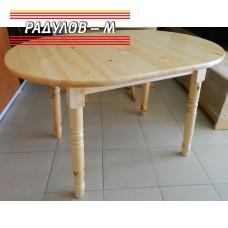 Кухненска маса елипса чам / 30529
