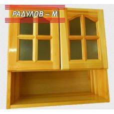 Кухненски шкаф със стъклени вратички и ниша / 30508
