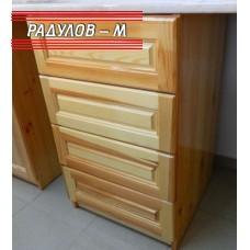 Кухненски шкаф долен ред с четири чекмеджета 50 см / 30542