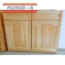 Кухненски шкаф долен ред, две чекмеджета и вратички 100 см / 30555