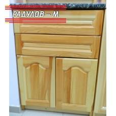 Кухненски шкаф А60, с две вратички и две чекмеджета чам, 60 см / 30602