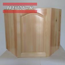 Кухненски шкаф ъглов горен с плътна вратичка / 30544-1