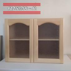 Кухненски шкаф чам горен ред витрина 80 см / 30510