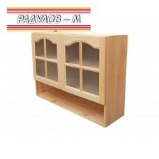 Кухненски шкаф горен със стъклени вратички и ниша Б82 / 30511