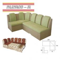 Кухненски ъглов диван ВИКТОРИЯ, функция сън, избор на дамаска