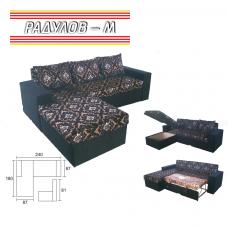 Холов ъгъл БАЧИ 240 х 180 см, разтегателен, избор на дамаска