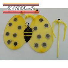 Парти комплект в жълто - крила, диадема и пръчица / 160