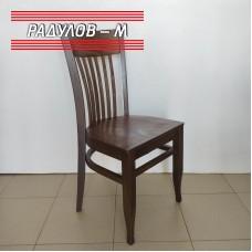 Трапезен стол Атина дървена седалка, цвят орех / 1-047
