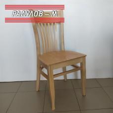 Трапезен стол Атина дървена седалка, натурален цвят / 1-048