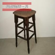 Бар стол с тапицерия, цвят орех / 756011