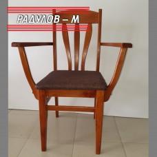 Трапезен стол лале с подлакътник / 771242