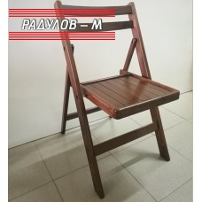 Сгъваем стол бук с дървена седалка / 77137