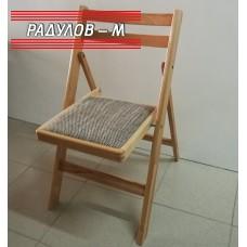 Сгъваем стол бук с тапицирана седалка / 77138