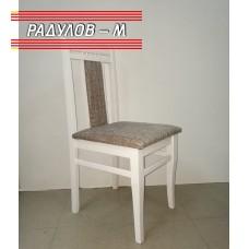 Трапезен стол Люси, бял / 77139