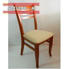 Трапезен стол Катя цвят канела / 90027
