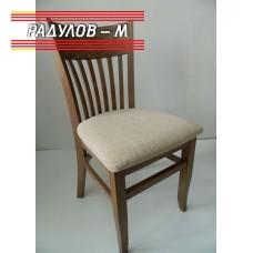 Трапезен стол Атина, цвят светъл орех / 90034-1