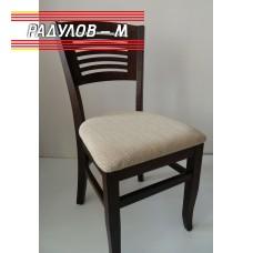 Трапезен стол Яна цвят орех / 90038