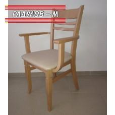 Кресло Катя цвят натурален / 90080