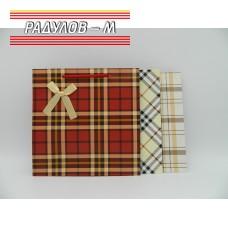 Подаръчна торбичка квадратна каре / 4539