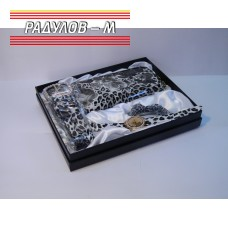 Дамски комплект колан + портмоне + шнола + часовник / 4771