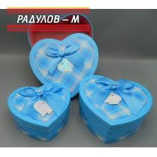 Кутии за подарък сърце каре / 6470-1