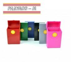 Пластмасова кутия за цигари 80 мм , табакера / 7714