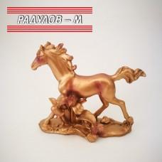Декоративна статуетка кон, бронз / 8407