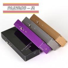 Метална кутия за цигари / табакера 100 мм/ 5725