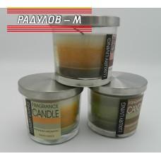Свещ ароматна в стъклена чашка / 9045