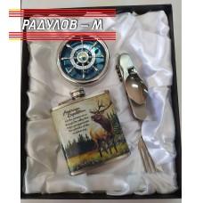 Мъжки подаръчен комплект - манерка, комбиниран нож, пепелник рул
