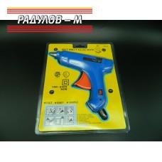 Пистолет за топъл силикон голям 80W / 903